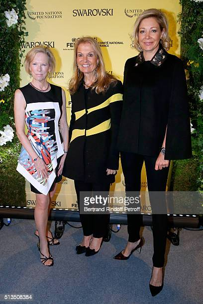President and Chief Executive Officer of the United Nations Foundation Kathy Calvin Ambassador of USA in France Jane D Hartley and CEO of Swarovski...