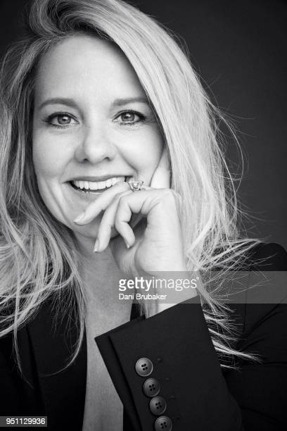 President and Chief Operating Officer at SpaceX Gwynne Shotwell is photographed for Marie Claire Magazine on February 22 2017 in Los Angeles...