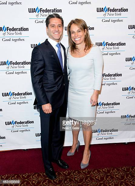 President and Chief Operating Officer at Time Warner Cable Rob Marcus and Wendy Marcus attend the 2014 UJAFederation of New York's Leadership Awards...