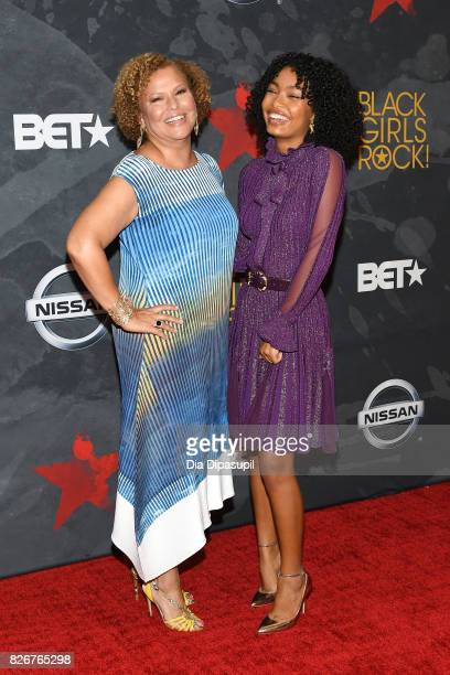 President and Chief Operating Officer of BET Holdings Inc Debra L Lee and Yara Shahidi attend Black Girls Rock 2017 at NJPAC on August 5 2017 in...