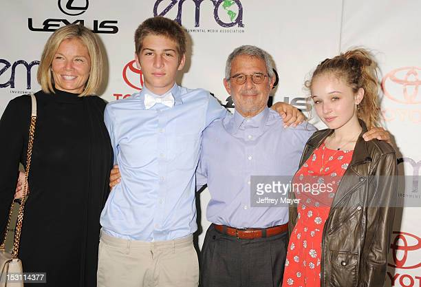 President and Chief Operating Officer of Universal Studios Ron Meyer and family arrive at the 2012 Environmental Media Awards at Warner Bros Studios...
