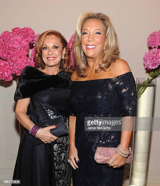 President and Cofounder of Gabrielle's Angel Foundation Denise Rich and Michelle Rella attend Gabrielle's Angel Foundation Hosts Angel Ball 2013 at...