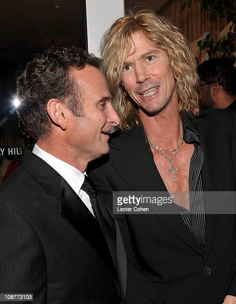 President and COO of BMG Label Group Charles Goldstuck and Duff McKagan attend the 2008 Clive Davis PreGRAMMY party at the Beverly Hilton Hotel on...