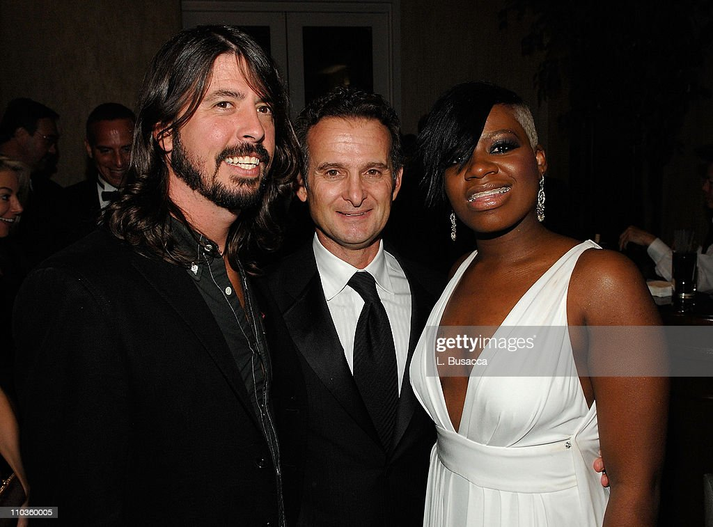President and COO of BMG Label Group Charles Goldstuck (center) with musician Dave Grohl (left) and singer Fantasia (right) attends the 2008 Clive Davis Pre-GRAMMY party at the Beverly Hilton Hotel on February 9, 2008 in Los Angeles, California.