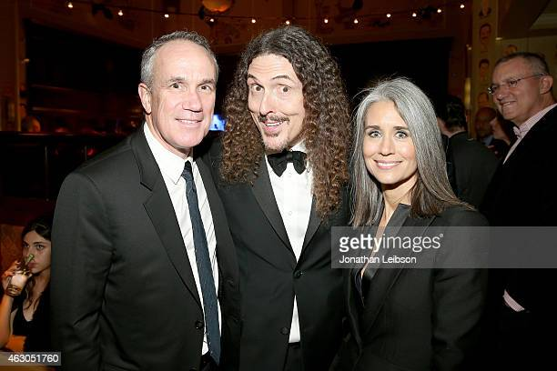 President and COO of RCA Records Tom Corson recording artist Weird Al Yankovic and Suzanne Krajewski attend the Sony Music Entertainment 2015...