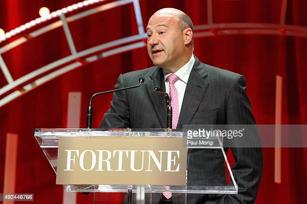 President and COO of The Goldman Sachs Group Gary Cohn speaks onstage during Fortune's Most Powerful Women Summit Day 2 at the Mandarin Oriental...
