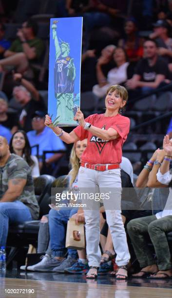 President and COO of the New YorkNew York Hotel Casino Cynthia Kiser Murphey attends a game between the Las Vegas Aces and the New York Liberty at...