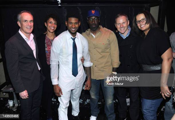 President and COO RCA Records Tom Corson, Grace Miguel of Usher's management, Usher, President Urban music RCA Mark Pitts, CEO RCA Peter Edge and SVP...