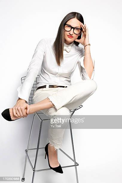 President and Creative Director of JCrew fashion brand Jenna Lyons is photographed for Fast Company Magazine on May 1 2013 in New York City