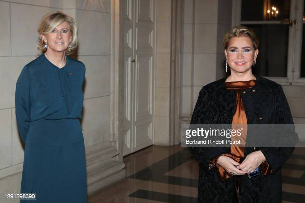"""President and creator of the price Patricia Chapelotte and Honorary President Grand Duchess Maria Teresa of Luxembourg attend the """"Prix de la Femme..."""