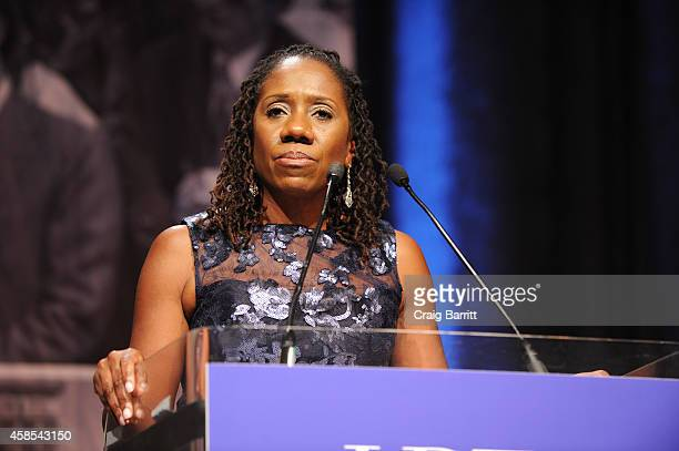 President and DirectorCounsel of the LDF Sherrilyn Ifill speaks onstage during the Legal Defense Fund Annual Gala to commemorate the 60th anniversary...