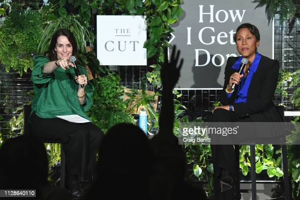 President and editorinchief of New York Magazine's The Cut Stella Bugbee and Good Morning America CoHost Robin Roberts speak onstage at The Big...