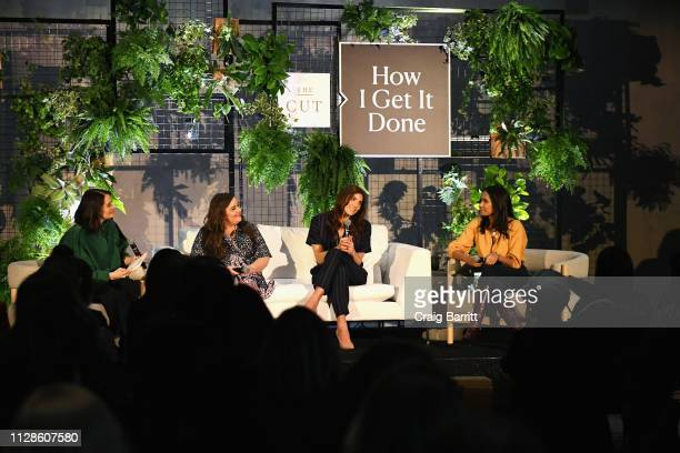 President and editorinchief of New York Magazine's The Cut Stella Bugbee actress Aidy Bryant soccer player Hope Solo and writer Padma Lakshmi speak...