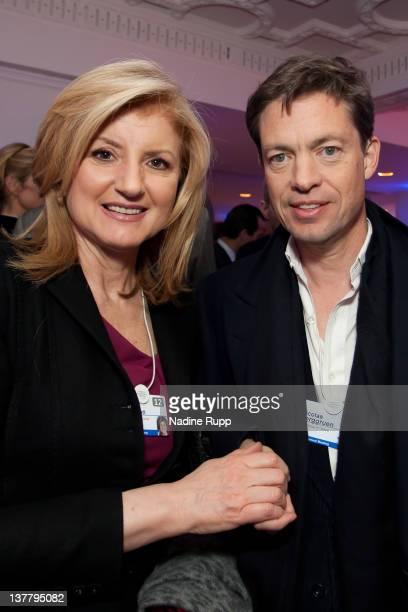 President and editorinchief of The Huffington Post Media Group Arianna Huffington and Nicolas Berggruen billionaire investor and founder of Berggruen...