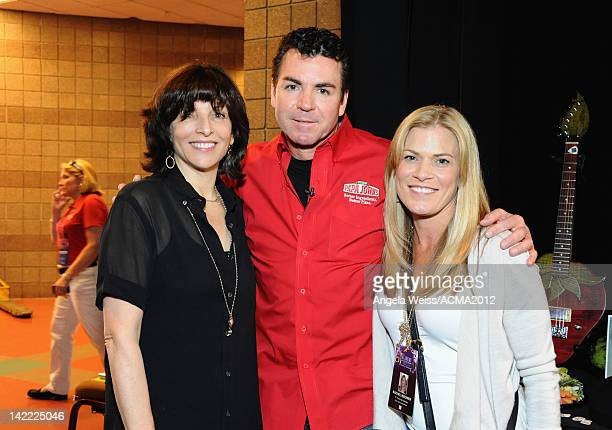 DCP President and Executive Producer Orly Adelson Papa John's Pizza CEO John Schnatter and DCP's Rachel Wagner attend the Gift Lounge for the 47th...