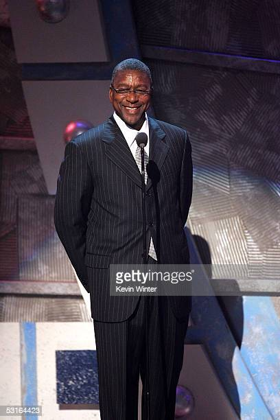 President and founder of BET Bob Johnson speaks onstage at the BET Awards 05 at the Kodak Theatre on June 28, 2005 in Hollywood, California.