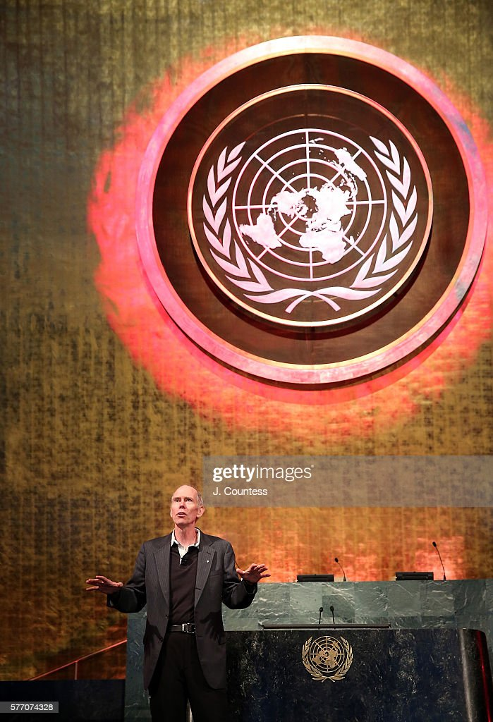 President and Founder of Denbar Robotics Daniel T. Berry speaks at the Novus Summit at the United Nations on July 17, 2016 in New York City.