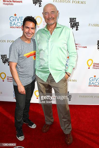 President and Founder of Give Back Hollywod Todd Michael Krim and actor Terry O'Quinn attends Give Back Hollywood Fashion Forms Giving Lounge To...