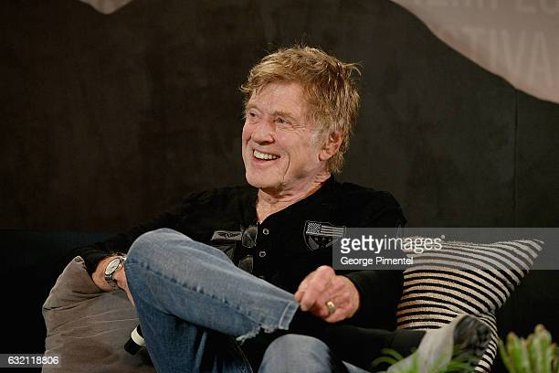 President and Founder of Sundance Institute Robert Redford attends the Day One Press Conference during day 1 of the 2017 Sundance Film Festival at...
