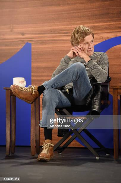 President and Founder of Sundance Institute Robert Redford speaks onstage during the 2018 Sundance Film Festival Day One Press Conference at Egyptian...