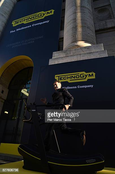 President and founder of Technogym Nerio Alessandri attends the Technogym Listing Ceremony at Palazzo Mezzanotte on May 3 2016 in Milan Italy...