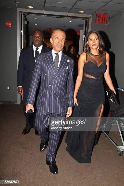 President and Founder of the National Action Network Reverend Al Sharpton and Aisha McShaw attend the 2013 National Action Network Triumph Awards at...