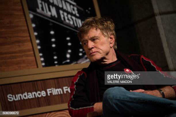 President and Founder of the Sundance Institute Robert Redford attends the opening day press conference to kickoff the 2016 Sundance Film Festival in...