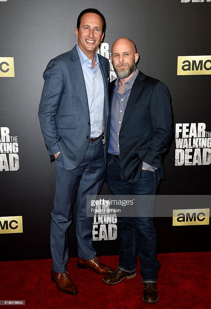 President and General Manager Charlie Collier (L) and producer Dave Erickson attend the premiere of AMC's 'Fear The Walking Dead' Season 2 at Cinemark Playa Vista on March 29, 2016 in Los Angeles, California.
