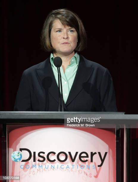 President and general manager TLC Eileen O'Neill speaks during Discovery Communications portion of the 2010 Summer TCA pres tour held at the Beverly...
