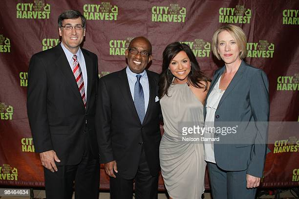 President and General Manager, WNBC Tom O'Brien, TV news personality Al Rocker, TV personality Rachael Roy and City Harvest Executive Director, Jilly...
