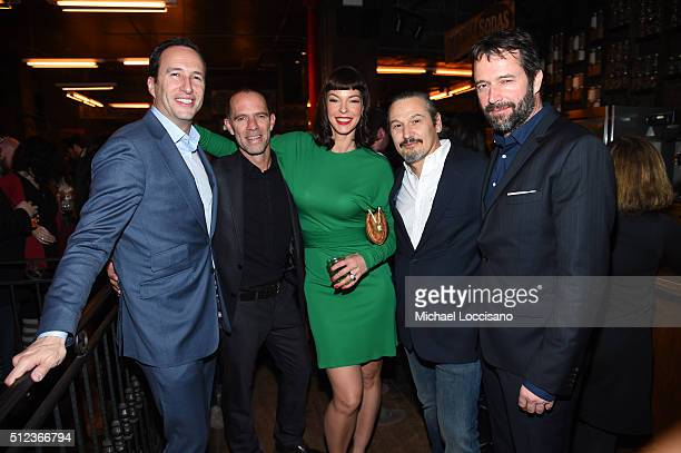 President and GM AMC and SundanceTV Charlie Collier actor Neil Sandilands actress Pollyanna McIntosh writer Nick Damici and actor James Purefoy...