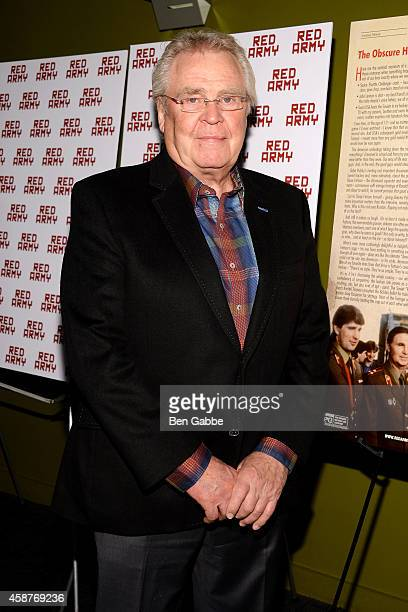 President and GM of the New York Rangers Glen Sather attends the Red Army New York Screening at Sunshine Landmark on November 10 2014 in New York City
