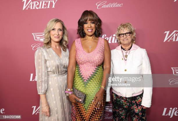 President and Group Publisher of Variety Michelle Sobrino-Stearns, Gayle King and Editor-in-Chief of Variety Claudia Eller attend Variety's Power of...