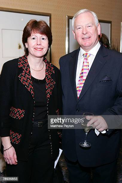 President and managing director of Cunard Line Carol Marlow and Carnival board member Sir John Parker attend the Cunard Royal Rendezvous and Maiden...