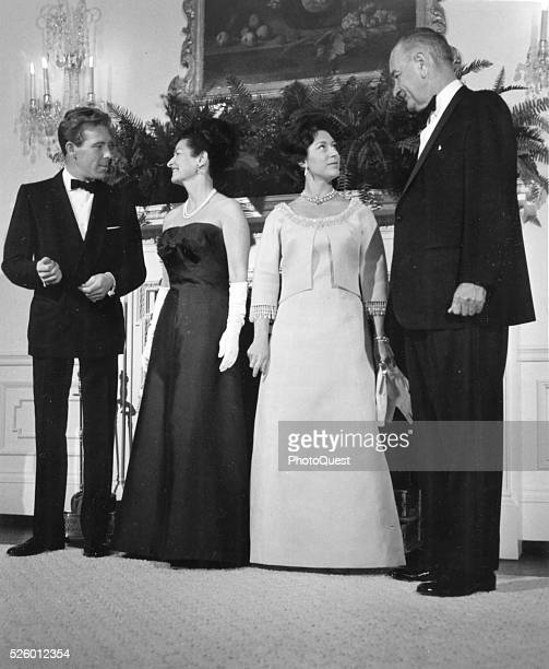 President and Mrs Lyndon B Johnson entertained Princess Margaret of England and her husband Lord Snowdon at the White House Washington DC November 17...
