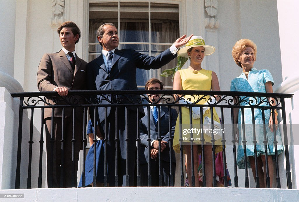 British Royalty Visiting The White House Under President Nixon : News Photo