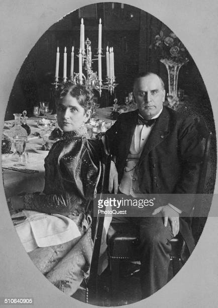 President and Mrs William McKinley circa 1898