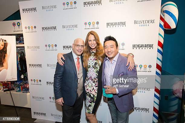 President and Publisher of Michigan Avenue Magazine Dan Uslan Bianca Benavides Anderson and Andy Li attend Michigan Avenue Magazine celebrates the...