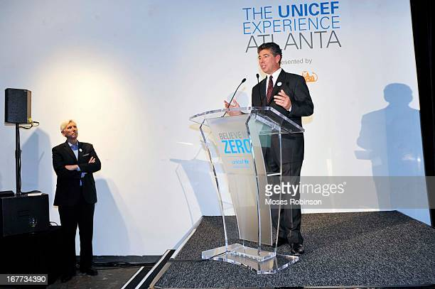 President and UPS International Dan Brutto attends The UNICEF Experience at Mason Murer Fine Art Gallery on April 28 2013 in Atlanta Georgia