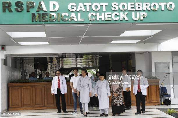 President and vice president candidates of Indonesia 2019 2024 Joko Widodo and Ma'ruf Amin accompanied by their children Kaesang Pangarep and Siti...