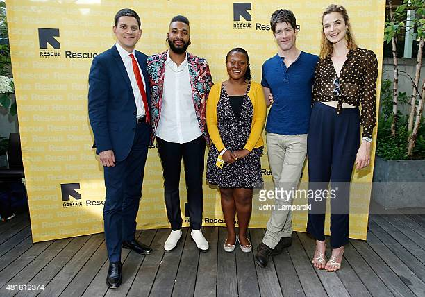 President andCEO of IRC David Miliband Chef KPE Dina Kitakule Brad Raider and model Melanie Huettner attend International Rescue Committee's 5th...