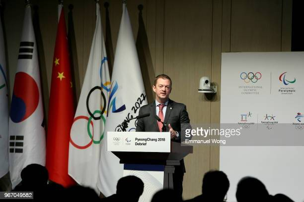 President Andre Parsons attends the PyeongChang 2018 Debrief on June 4 2018 in Beijing China