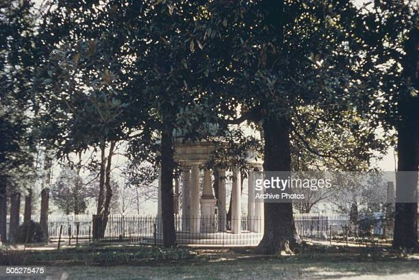 President Andrew Jackson's tomb in the grounds of the The Hermitage Nashville Tennessee USA circa 1960