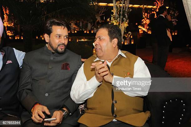 BCCI president Anurag Thakur with Rajeev Shukla chairman of Indian Premier League during a Cultural Gala 2016 event hosted by Vikramjit Sahney...