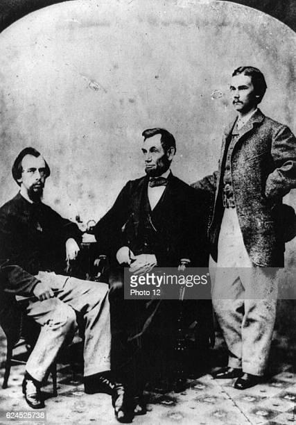 President Arbraham Lincoln with Secretaries John Hay and John Nicolay 1863 Alexander Gardner