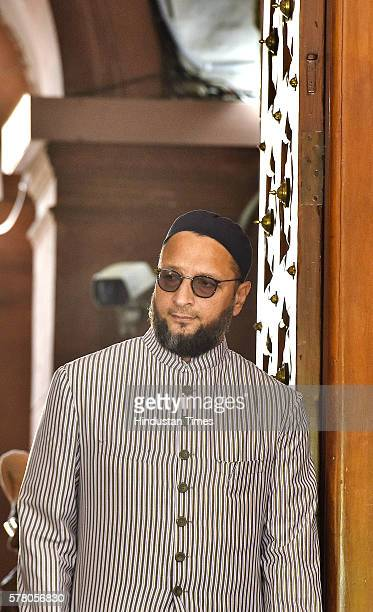 President Asaduddin Owaisi during the Parliament Monsoon Session on July 20 2016 in New Delhi India The assault and shaming of five Dalit youth in...