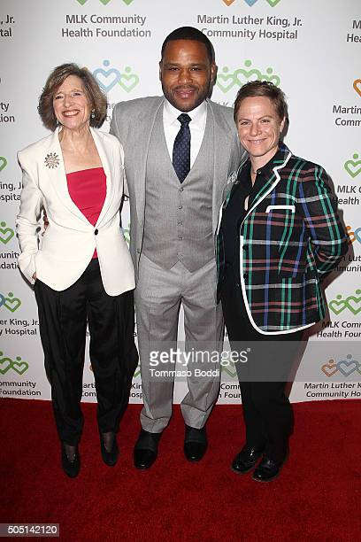 President at MLK Community Health Foundation Dyan Sublett actor Anthony Anderson and screenwriter Chris Nee attend the MLK Community Health...