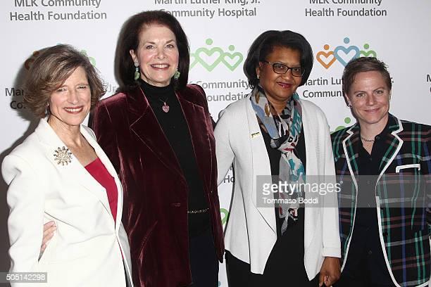 President at MLK Community Health Foundation Dyan Sublett actress Sherry Lansing CEO of Martin Luther King Jr Community Hospital Dr Elaine Batchlor...