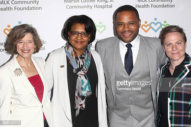 President at MLK Community Health Foundation Dyan Sublett CEO of Martin Luther King Jr Community Hospital Dr Elaine Batchlor actor Anthony Anderson...