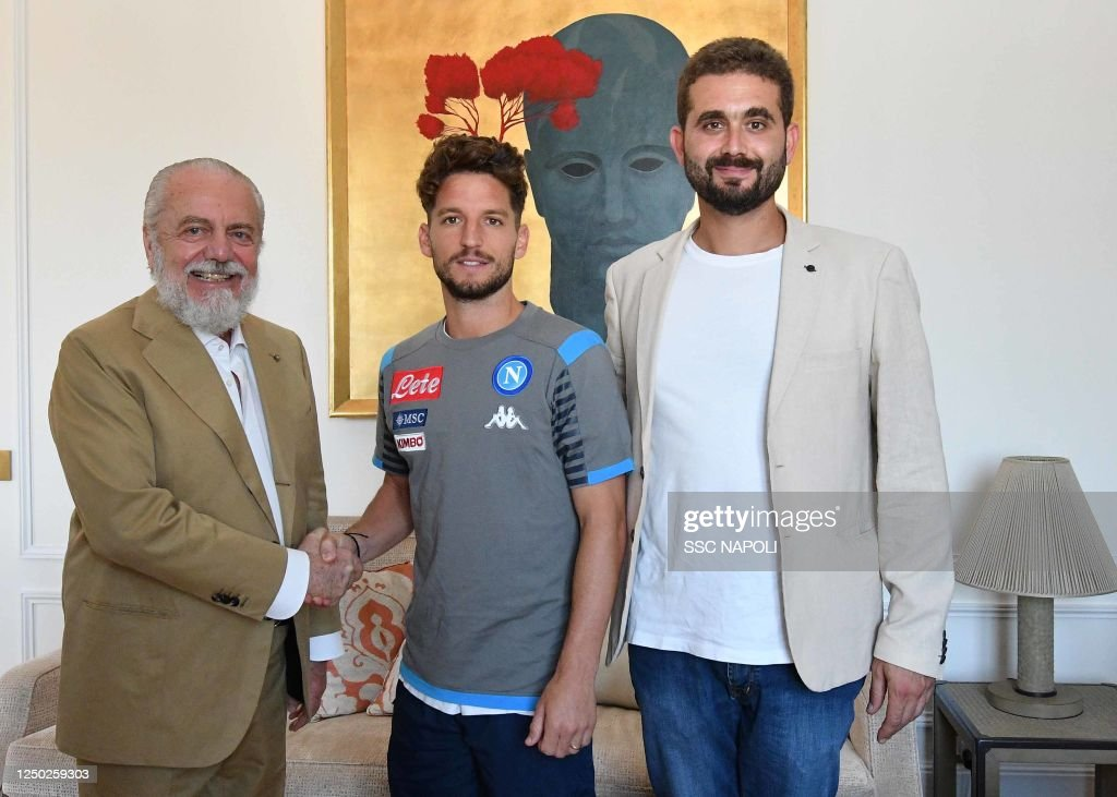 Dries Mertens Extends Contract With SSC Napoli : News Photo